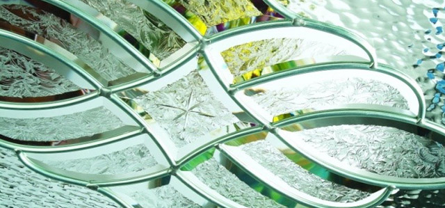 Patterned glass is available in many designs; here are some popular ones